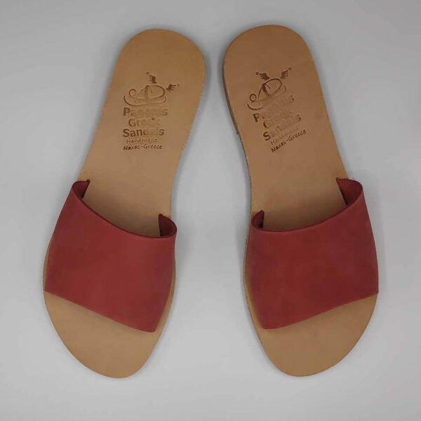 Demosthenes slides for women   Pagonis Greek Sandals