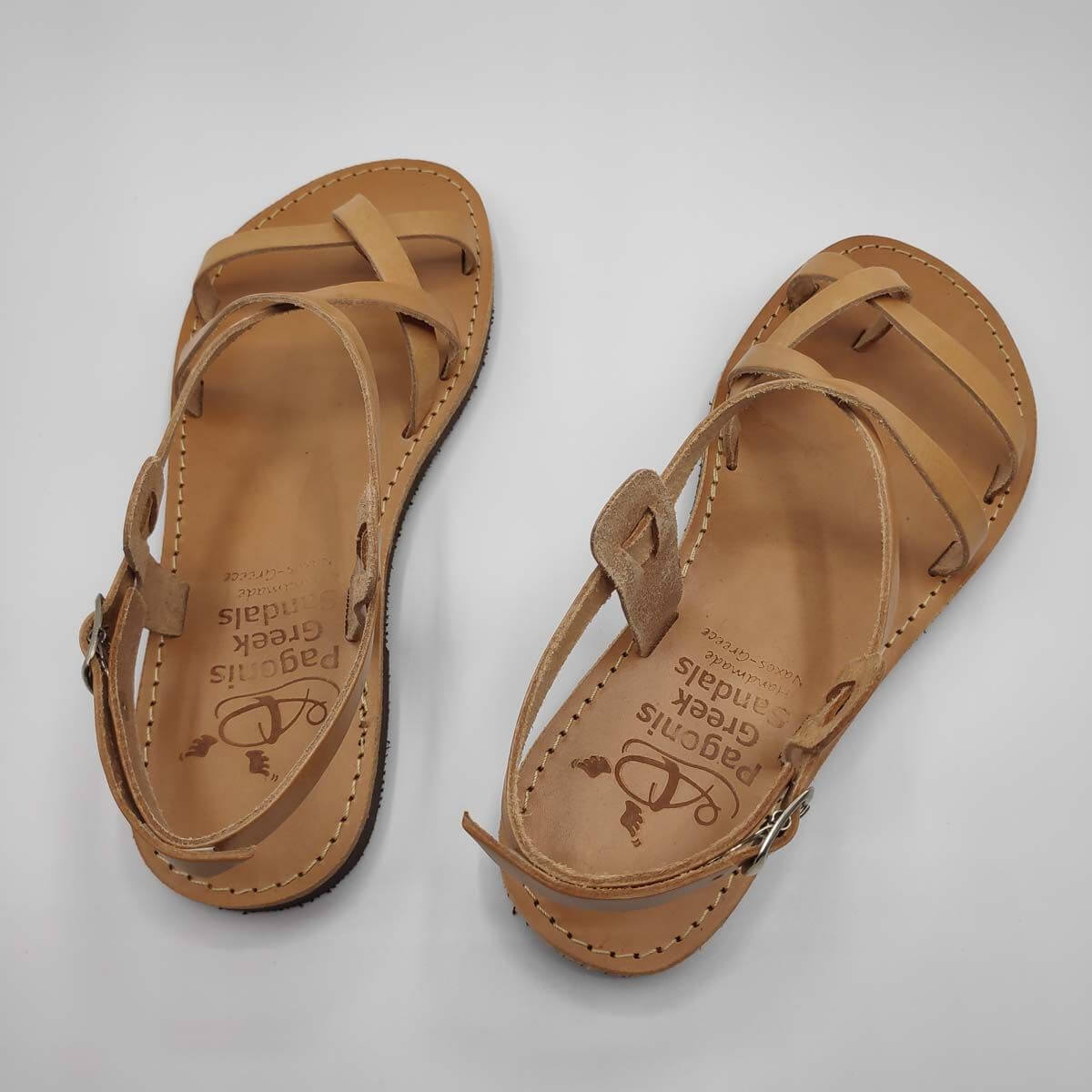 AMMOS Sandals with Back Strap | Pagonis Greek Sandals