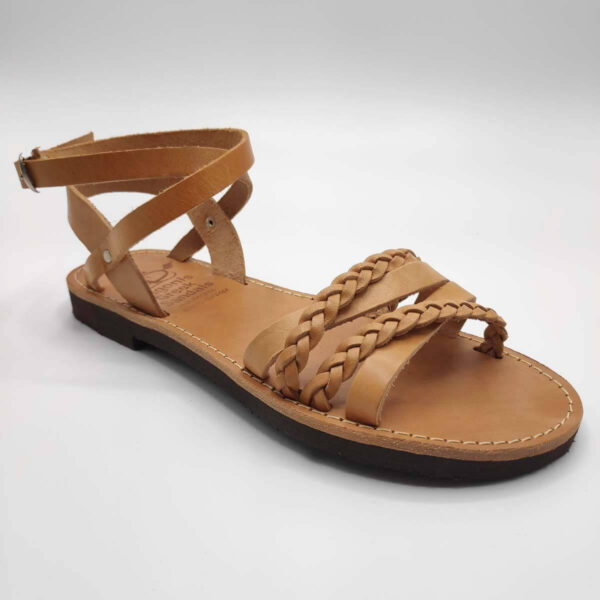 SI.MOU.SI flat ankle strap sandals | Pagonis Greek Sandals