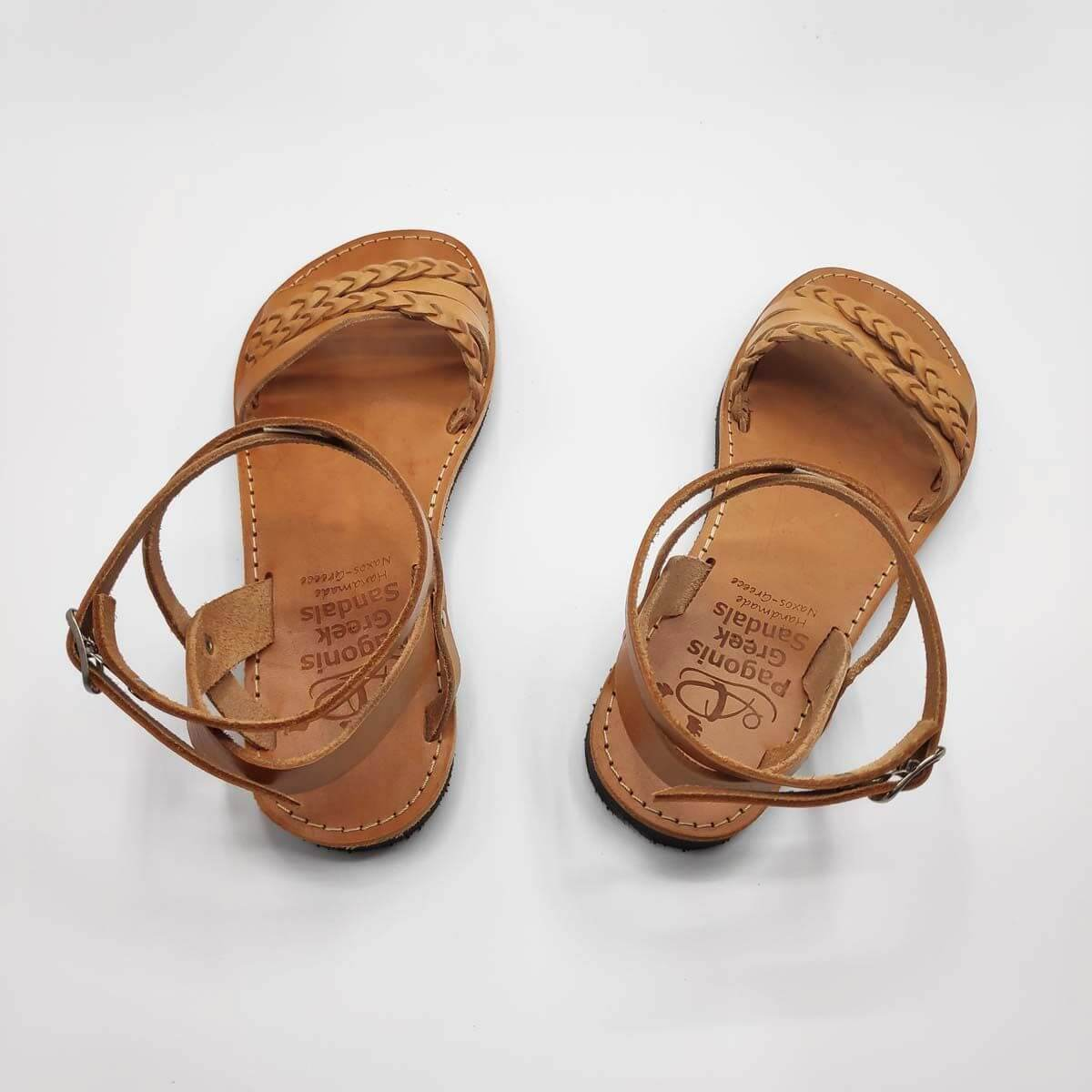 SI.MOU.SI flat ankle strap sandals