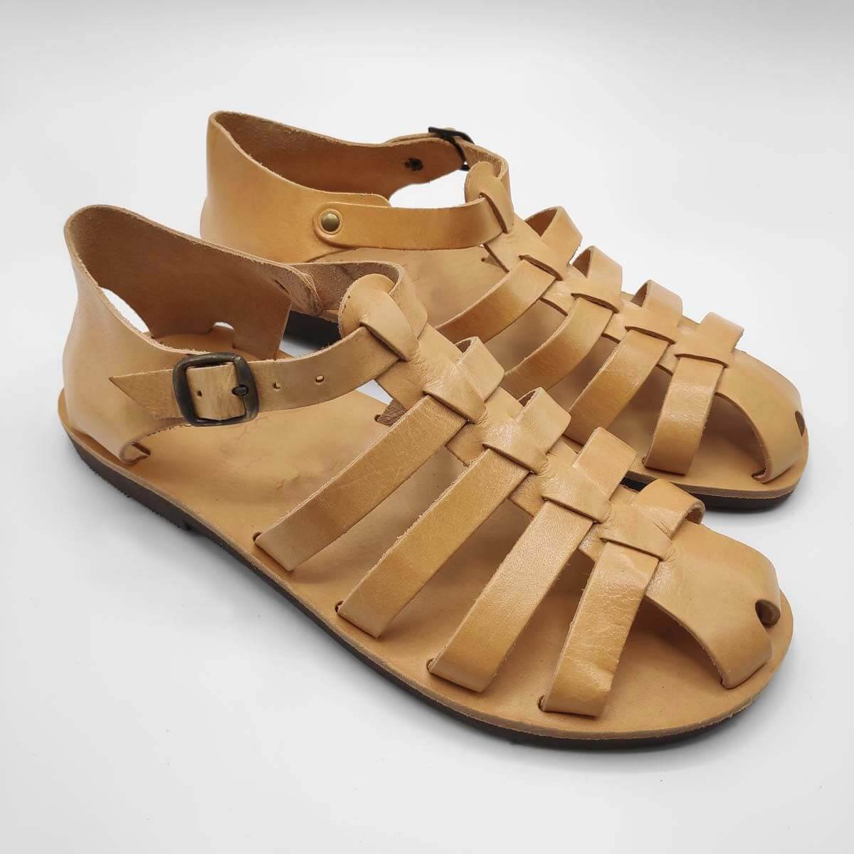 Mens Closed Toe Sandals | Almiro Men | Leather Sandals | Pagonis Greek Sandals