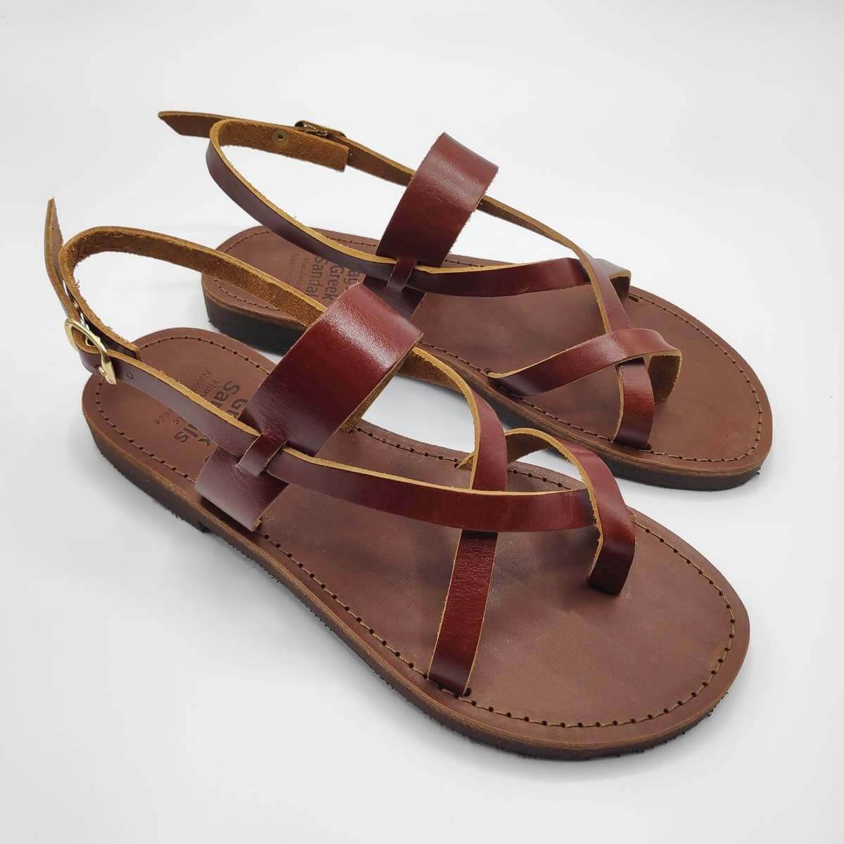 AGIASOS Back Strap Sandals | Pagonis Greek Sandals