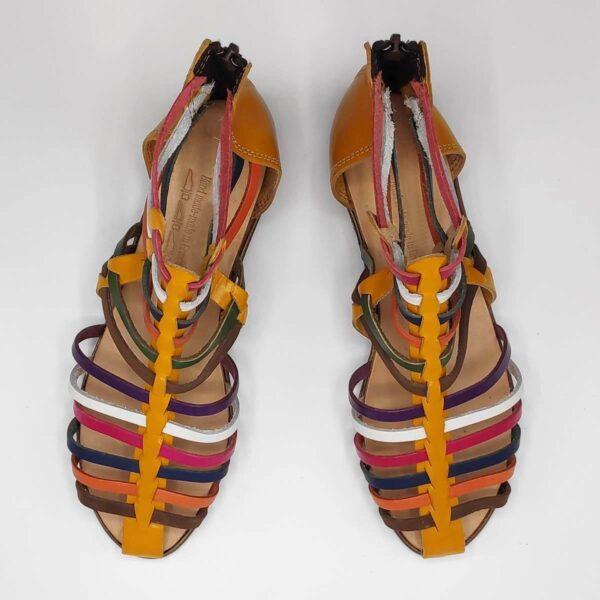 MEDUSA sandals with back zipper | Pagonis Greek Sandals