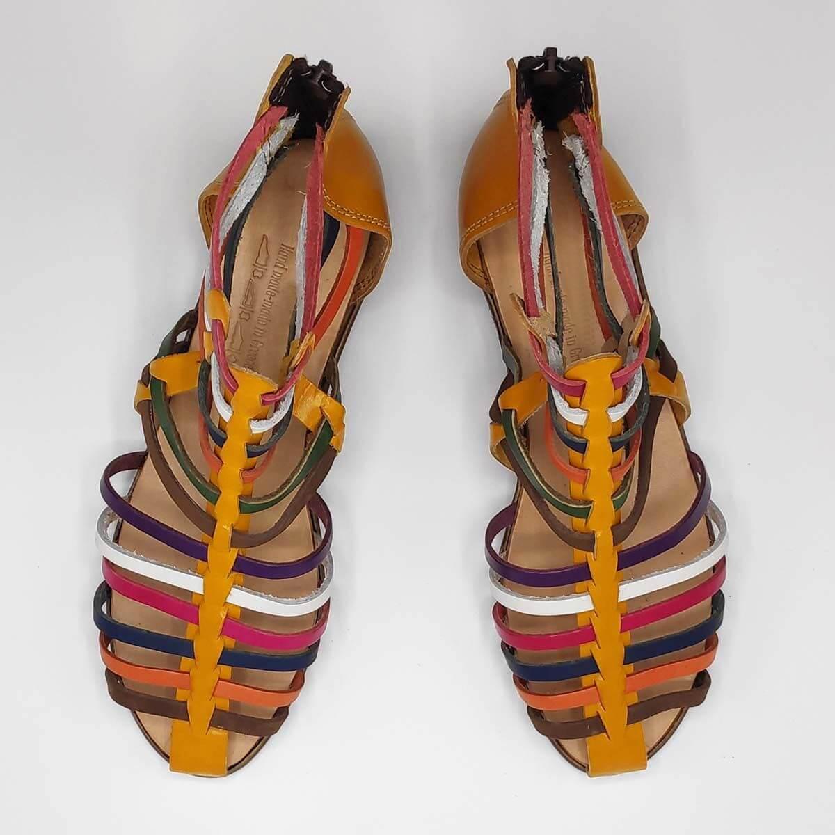 MEDUSA sandals with back zipper   Pagonis Greek Sandals