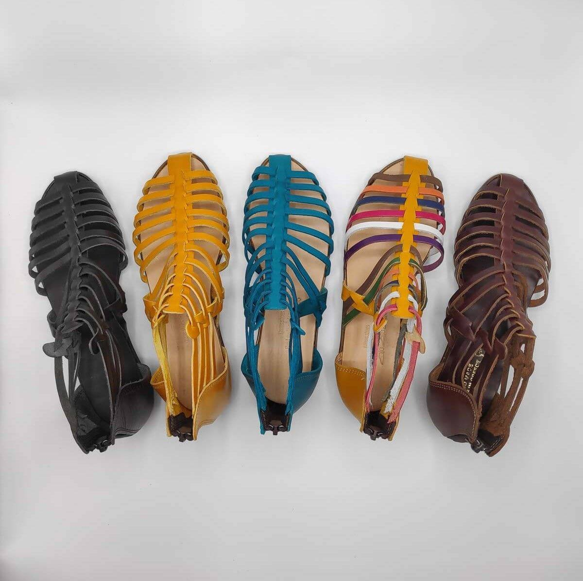 MEDUSA sandals with back zipper | Pagonis Greek Sandals