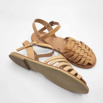 VATHI closed toe sandals for women | Pagonis Greek Sandals