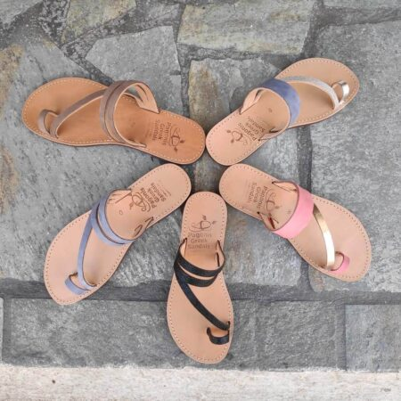 Leather Sandals with toe loop | Comi | Pagonis Greek Sandals