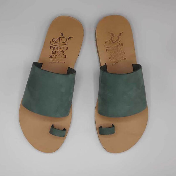 Leather Sandals with Toe Ring   Callisto   Pagonis Greek Sandals