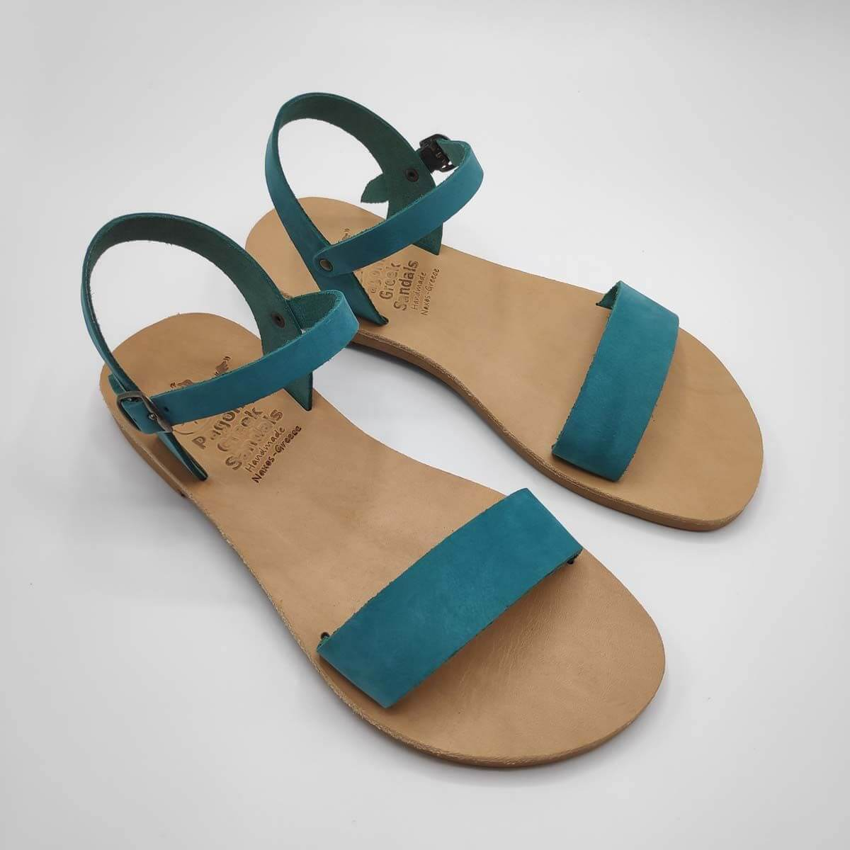 Dhonoussa flat strap sandals | Pagonis Greek Sandals
