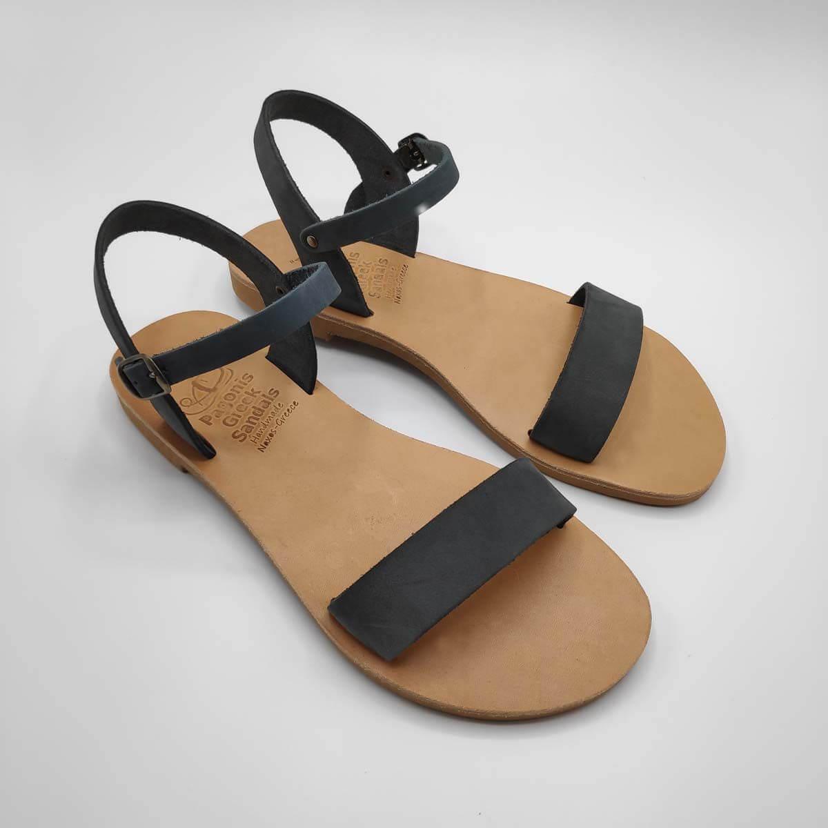 Dhonoussa flat strap sandals   Pagonis Greek Sandals