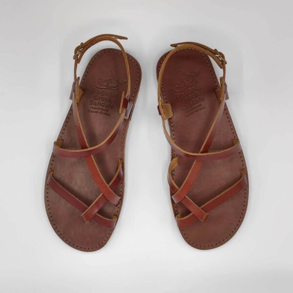 AMMOS Men leather sandals | Pagonis Greek Sandals