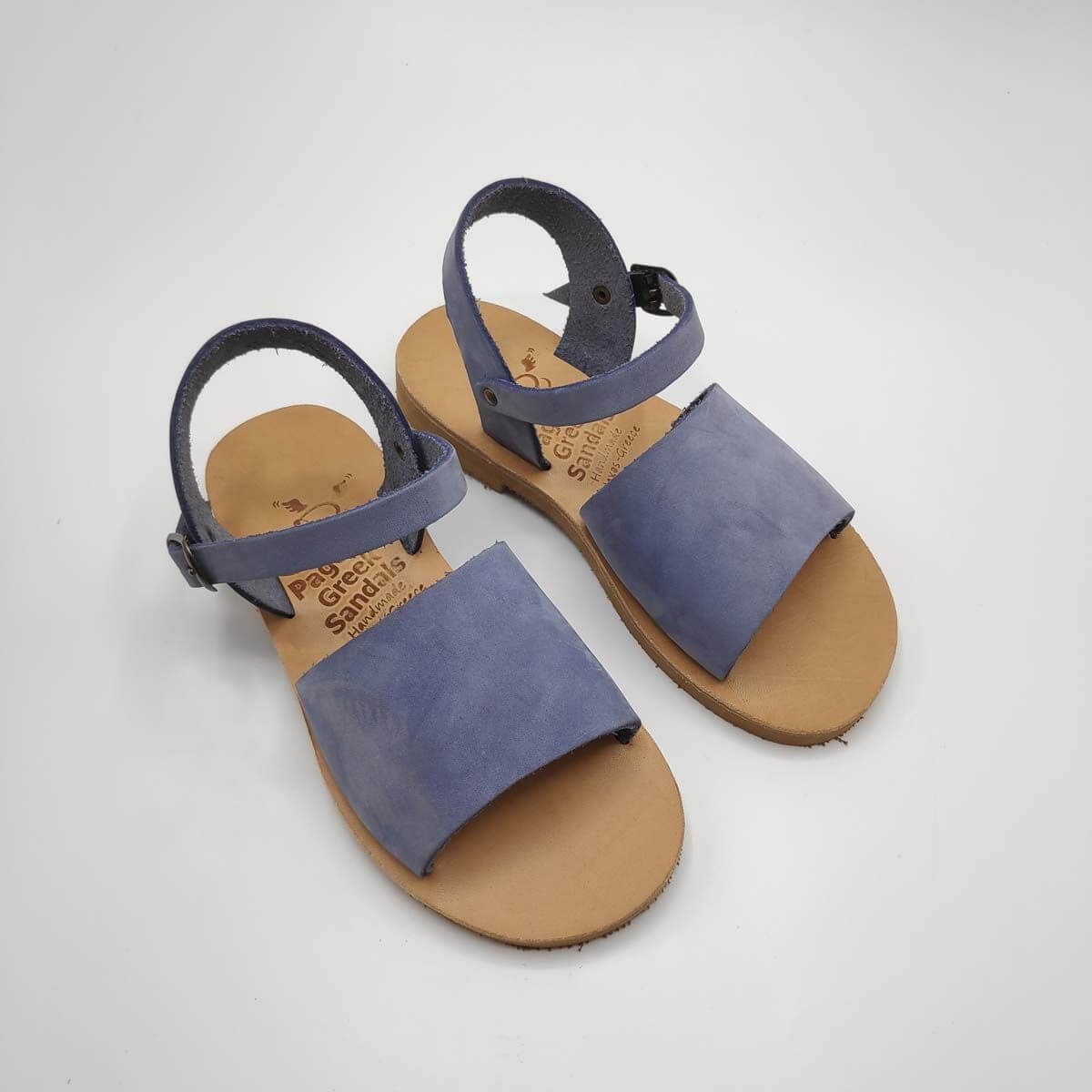 Blue Leather Sandals for boys | Stafili Kids | Pagonis Greek Sandals