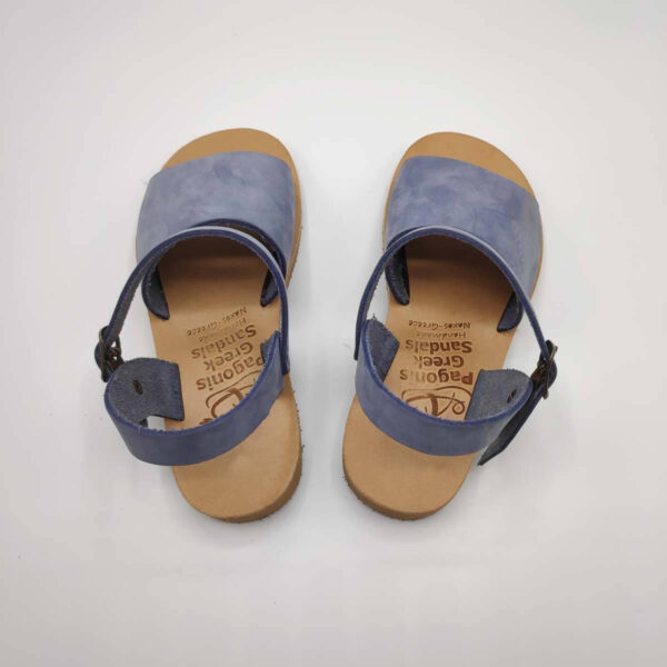 Blue Leather Sandals for boys | Stafili Kids | Pagonis Greek Sandals