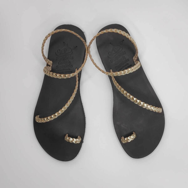Leather Sandals for Wedding | Loop Jewelled | Pagonis Greek Sandals