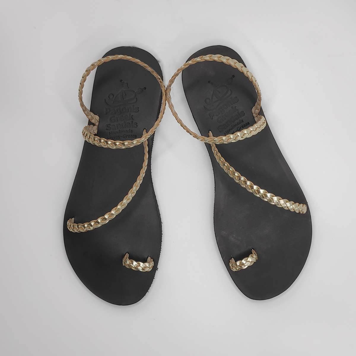 Leather Sandals for Wedding | Loop Jewelled | Pagonis Greek Sandals