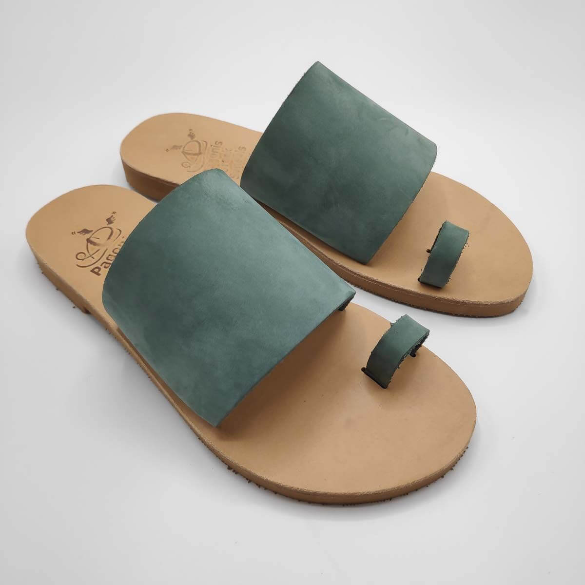 Leather Sandals with Toe Ring | Callisto | Pagonis Greek Sandals