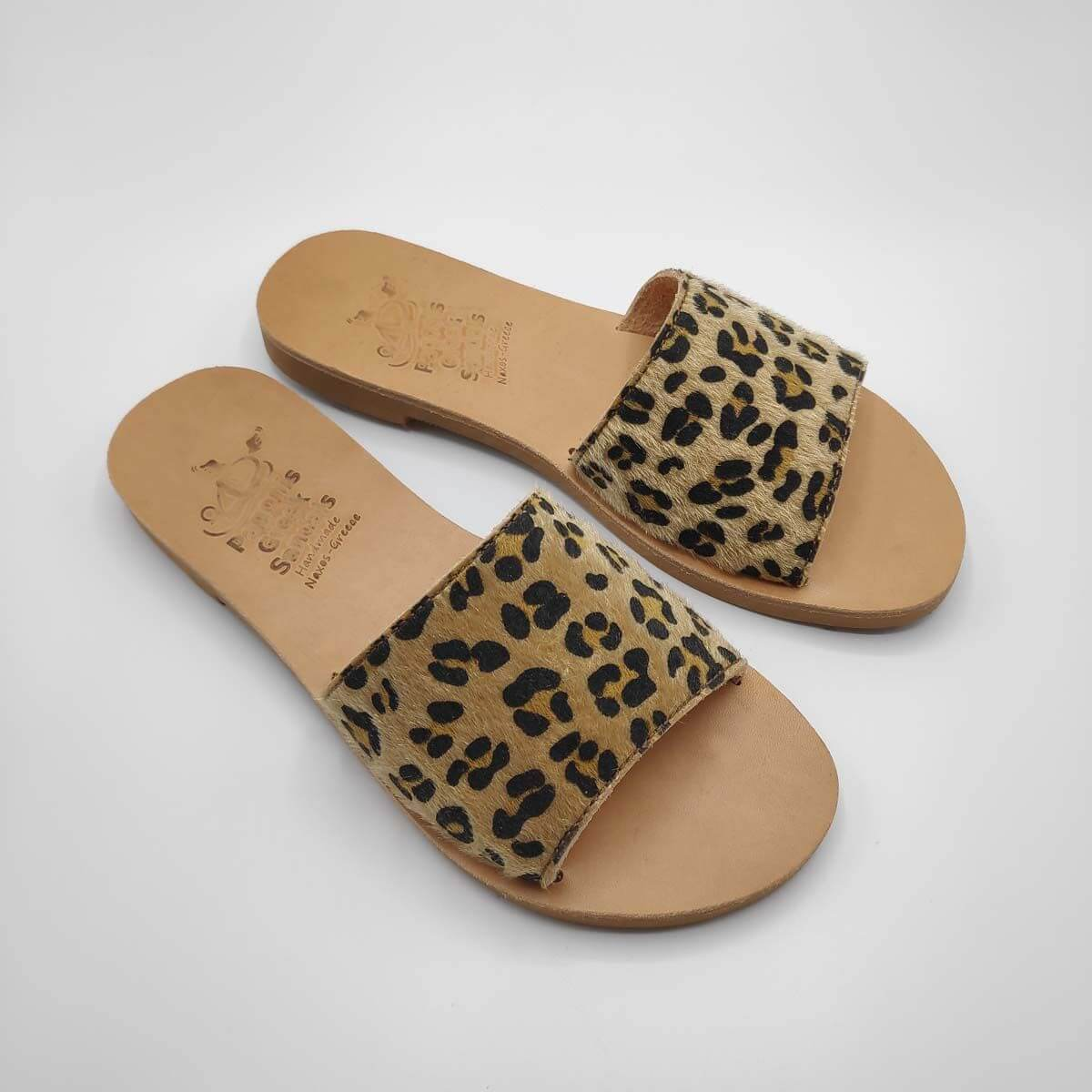 Slides with Fur | Demosthenes Pony | Pagonis Greek Sandals