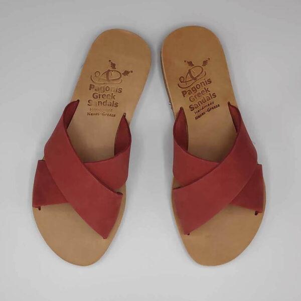 Xi criss cross sandals   Pagonis Greek Sandals