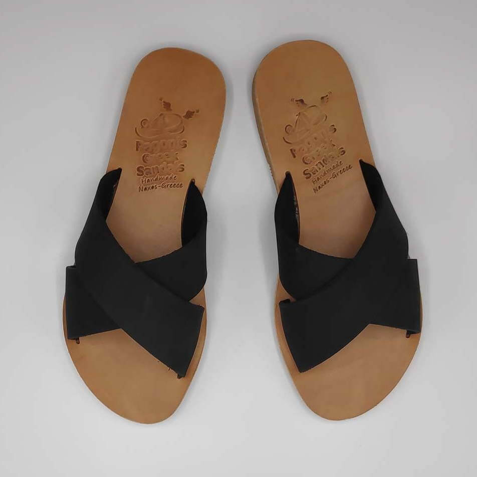 Xi criss cross sandals | Pagonis Greek Sandals