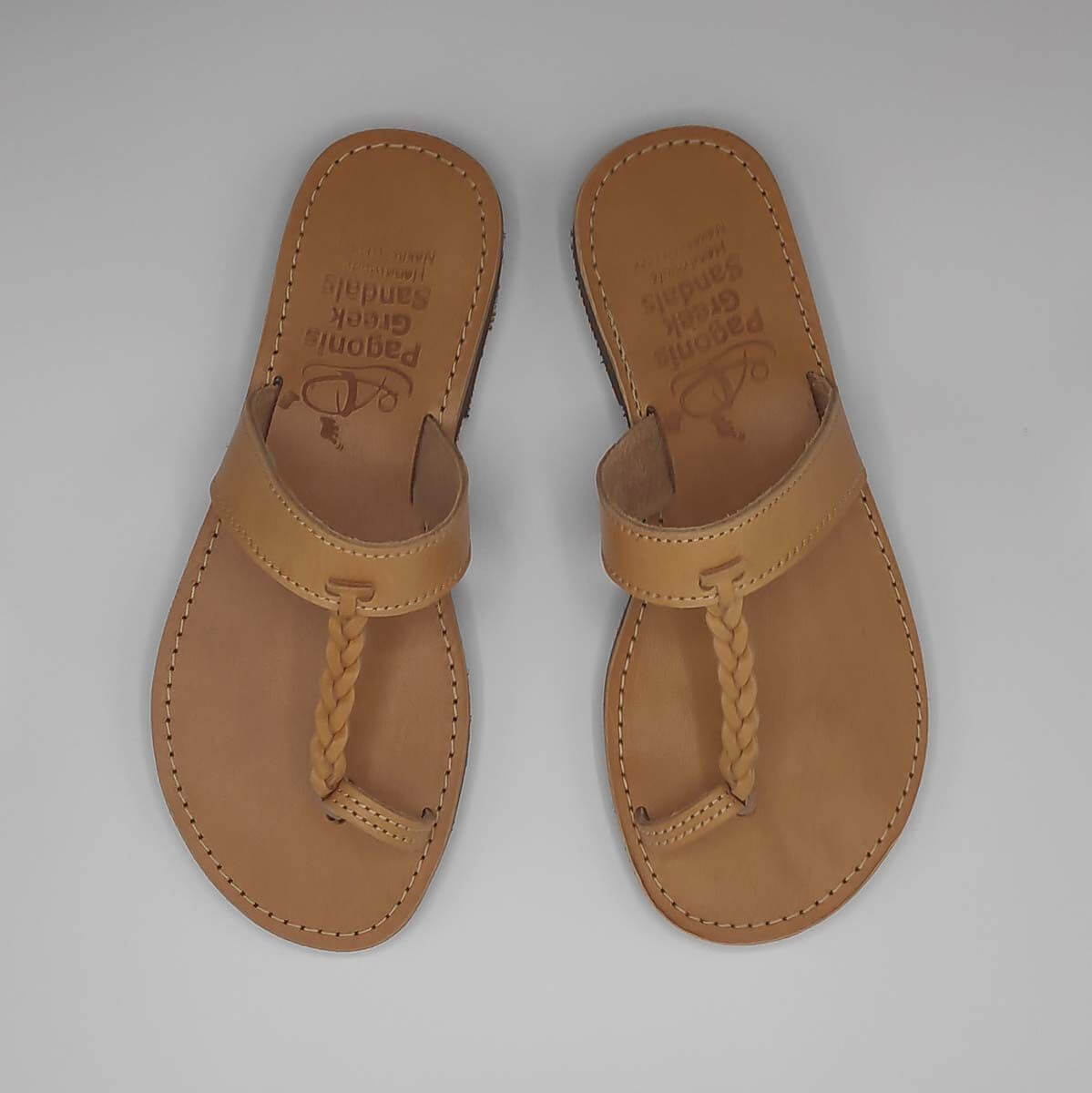 MIKRI VIGLA thong sandals | Pagonis Greek Sandals