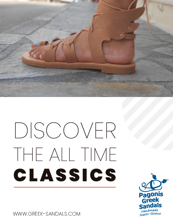 pagonis ancient greek sandals banner