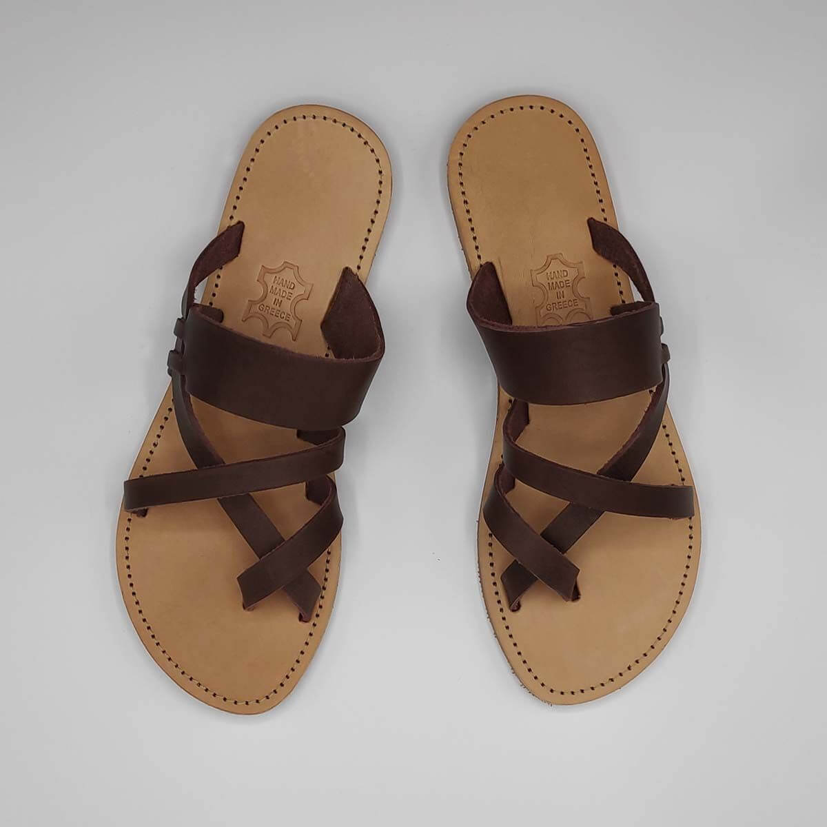 Artemis Criss Cross Slides | Pagonis Greek Sandals