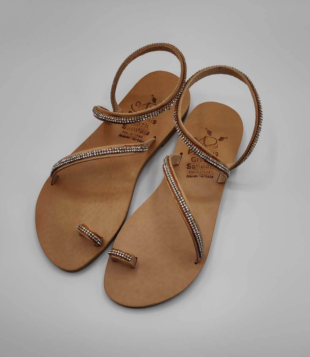 Loop Strass bridal sandals | Pagonis Greek Sandals