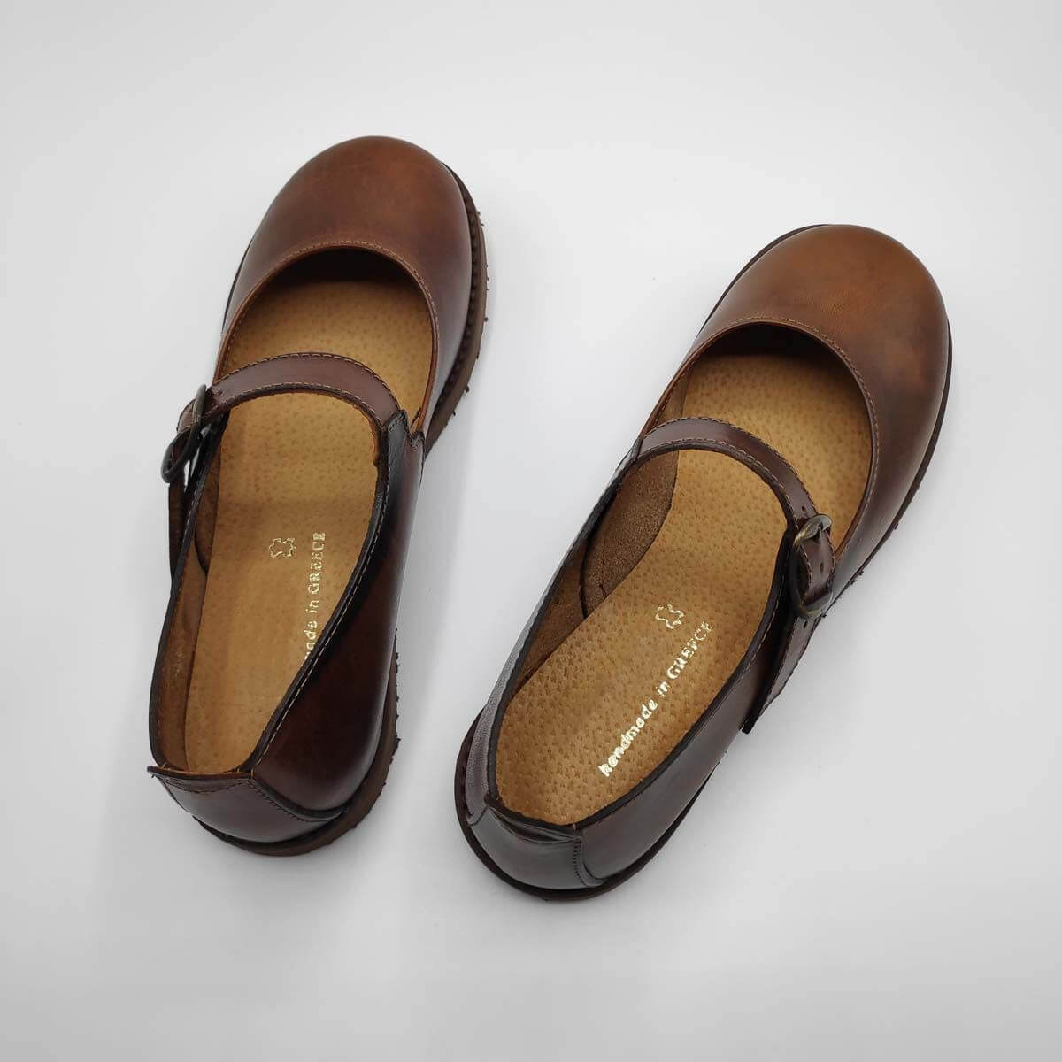Brown Leather Shoes | Mary Jane