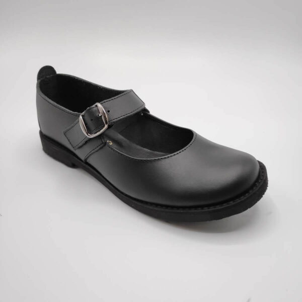 Black Leather Shoes | Mary Jane