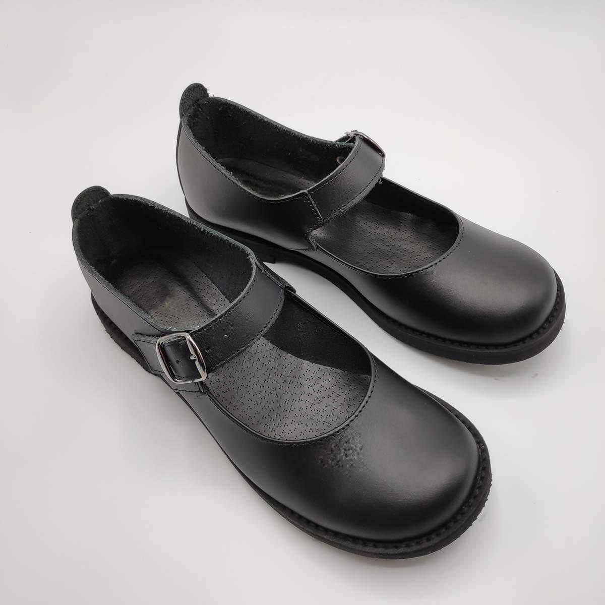 Black Leather Shoes | Mary Jane