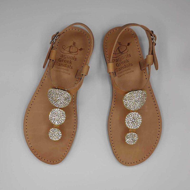 Kassandra jewelled sandals   Pagonis Greek Sandals