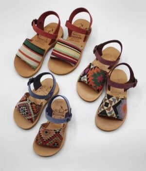 Leather Toddler Sandals For Girls | Stafili Kids Fabric | Pagonis Greek Sandals