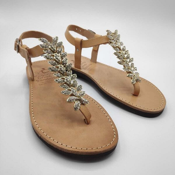 handmade wedding sandals