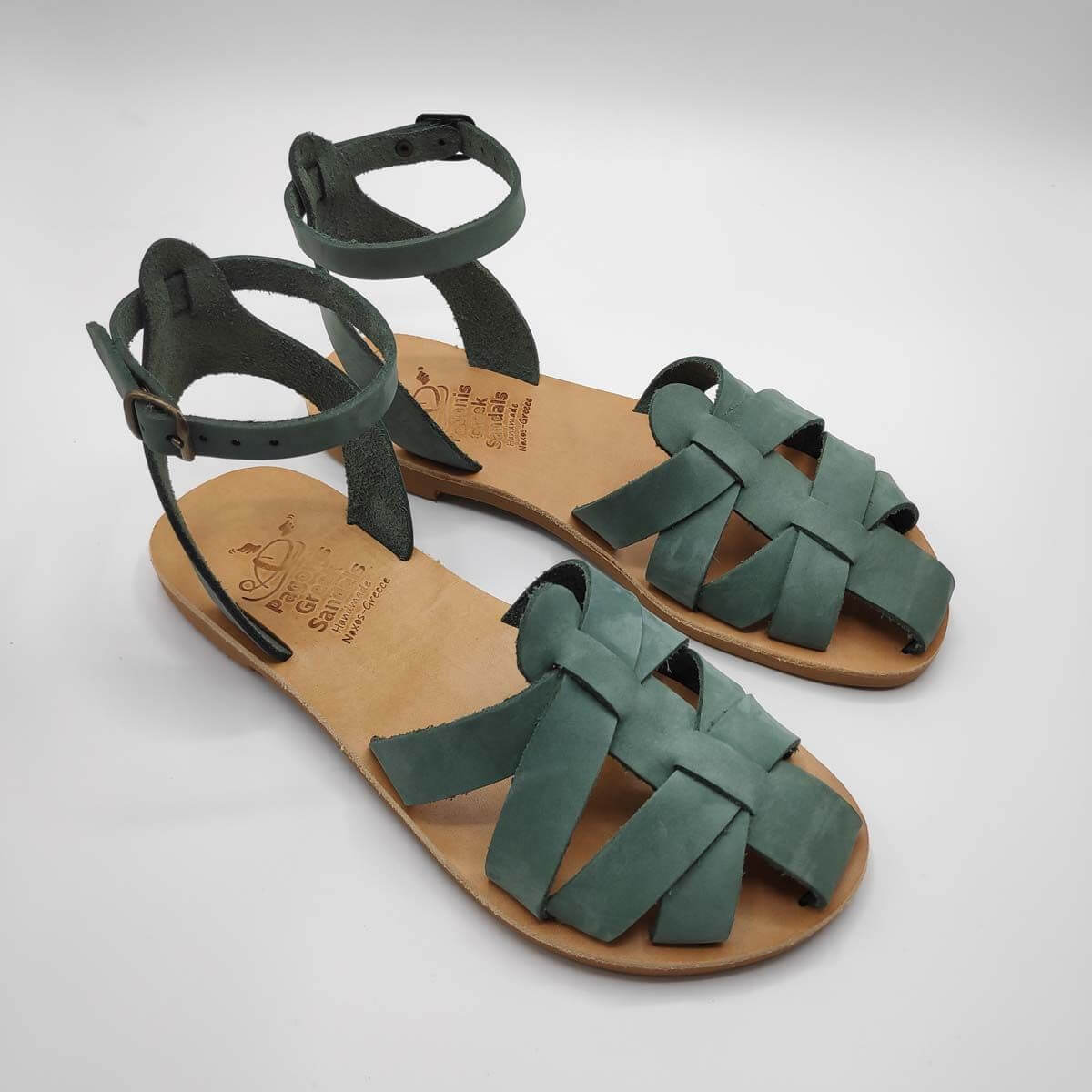 Lefkoni Closed Toe Leather Sandals | Pagonis Greek Sandals