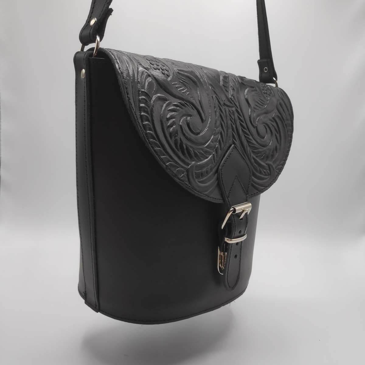Genuine leather Bucket bag | Pagonis Greek Sandals