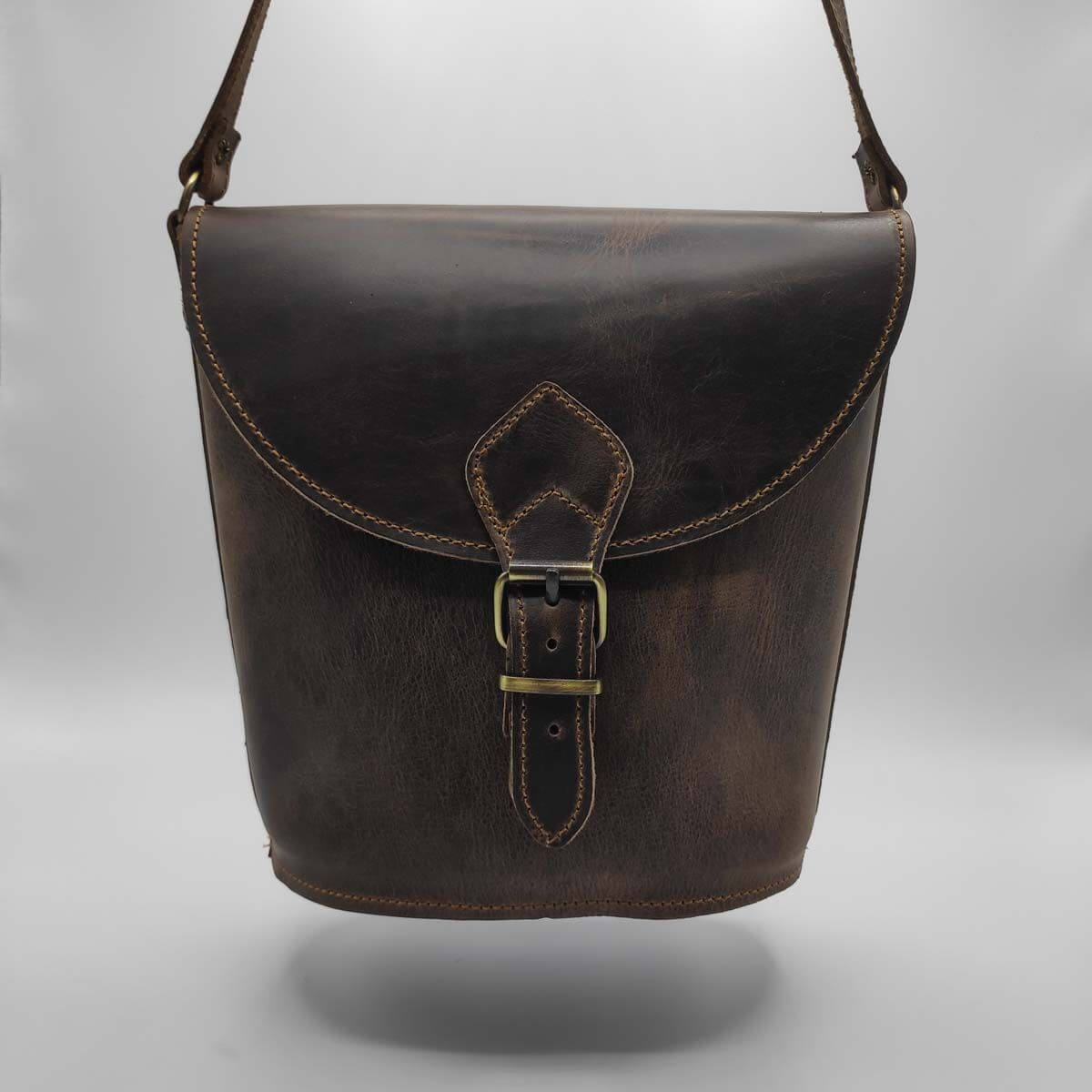 Genuine leather Bucket bag | Pagonis Greek Sandals
