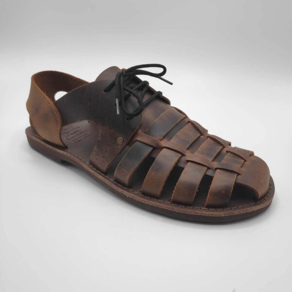 mens leather dress sandals