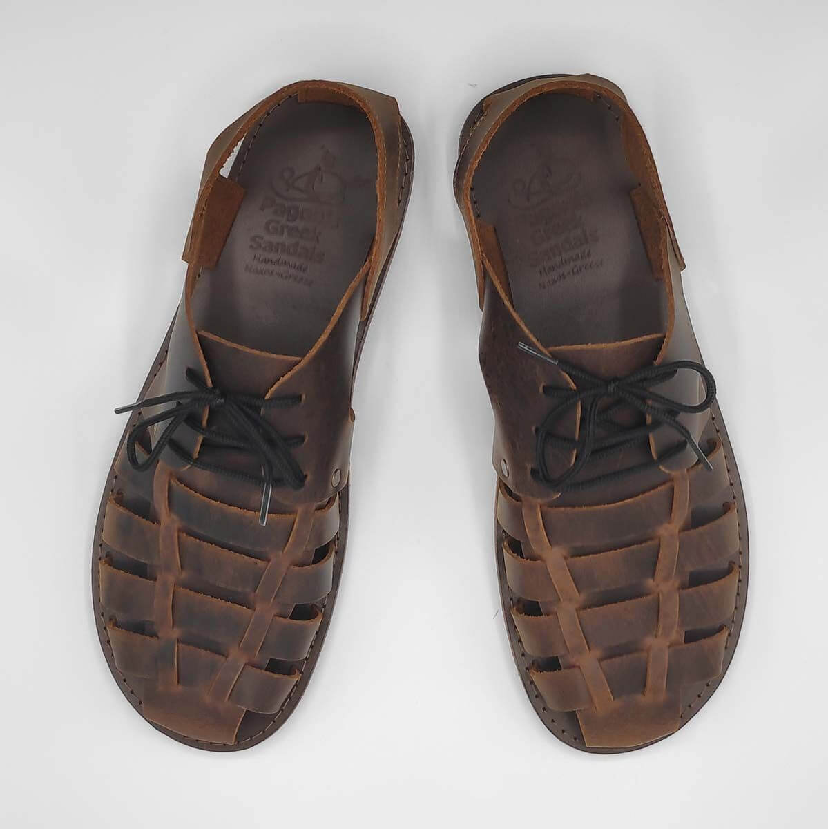 Thalassa Mens leather dress sandals | Pagonis Greek Sandals
