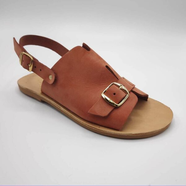 Bolibas Earthy Red Leather Sandals | Pagonis Greek Sandals