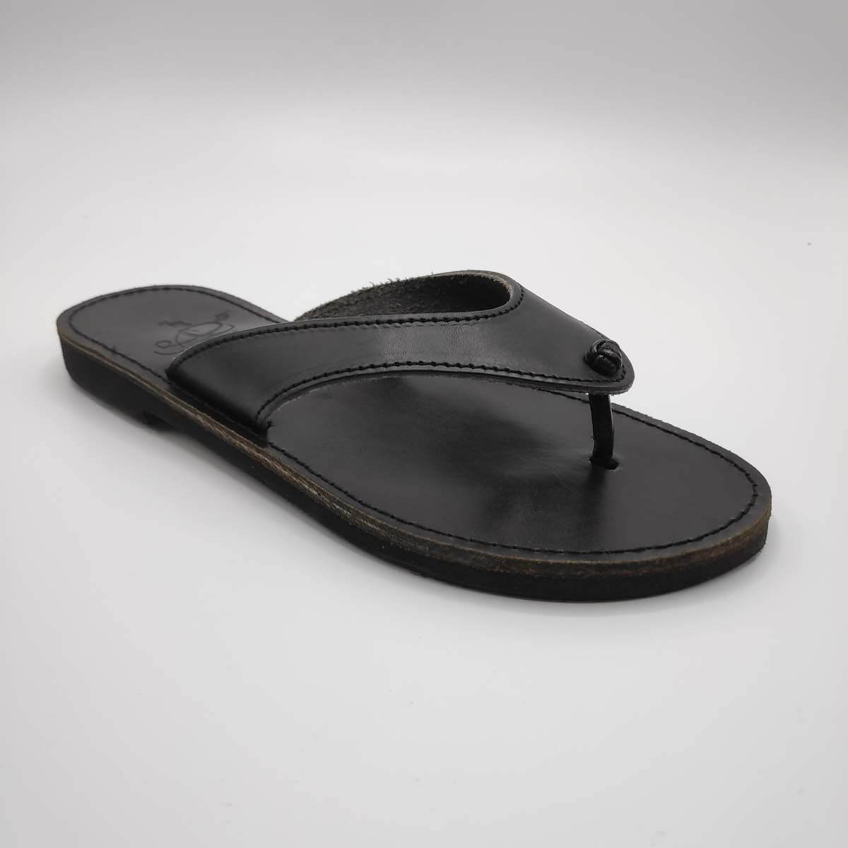 Lefgasa Leather Thongs Sandals | Pagonis Greek Sandals
