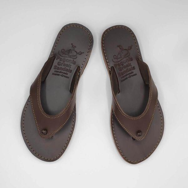 Lefgasa Leather Thongs Sandals | Pagonis Greek Sandals