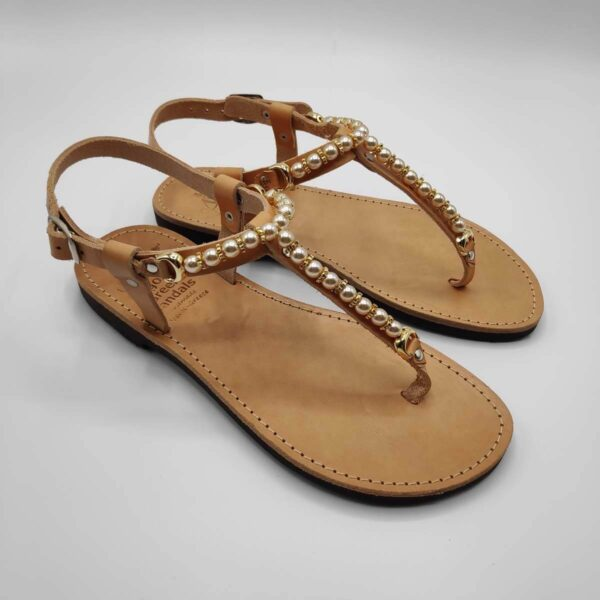 Embellished Sandals | Italida | Leather Sandals | Pagonis Greek Sandals