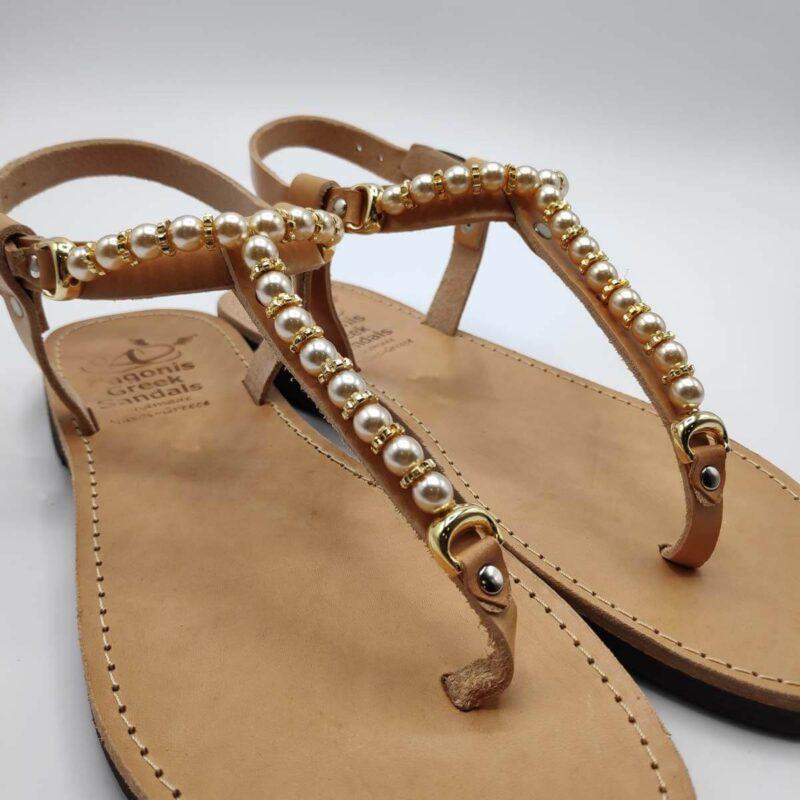 Embellished Sandals   Italida   Leather Sandals   Pagonis Greek Sandals