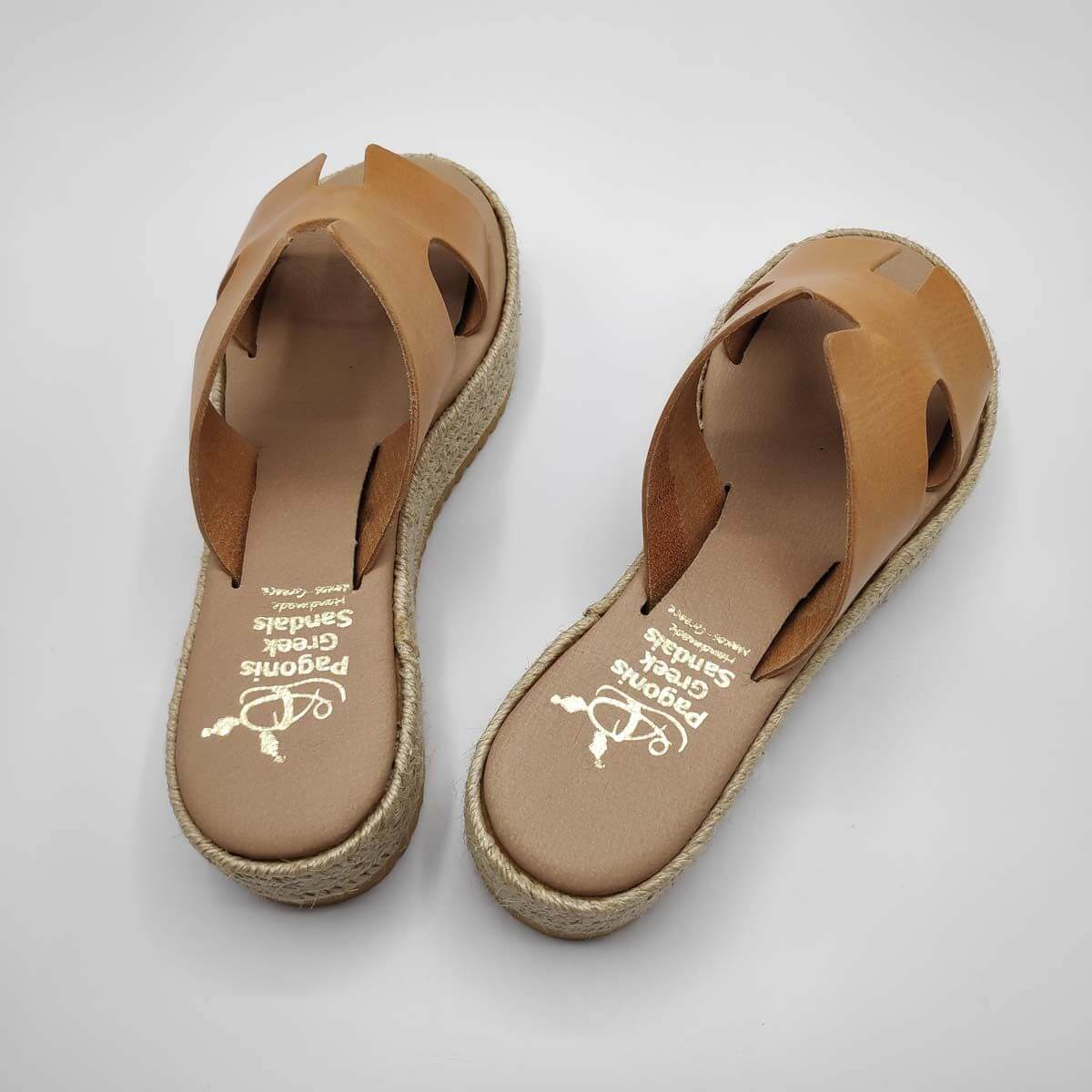 Hermes Slides Leather Platform Sandals