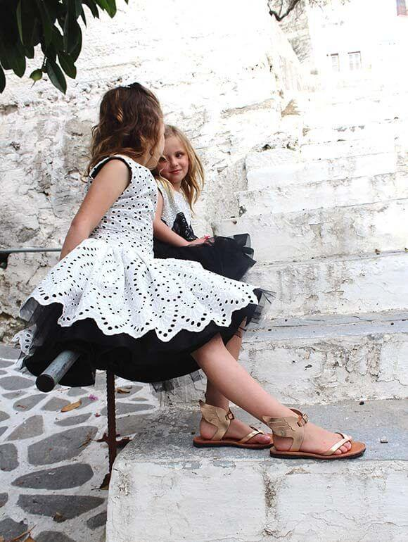 Leather Sandals for Kids | Sandals with Wings | Rose Gold
