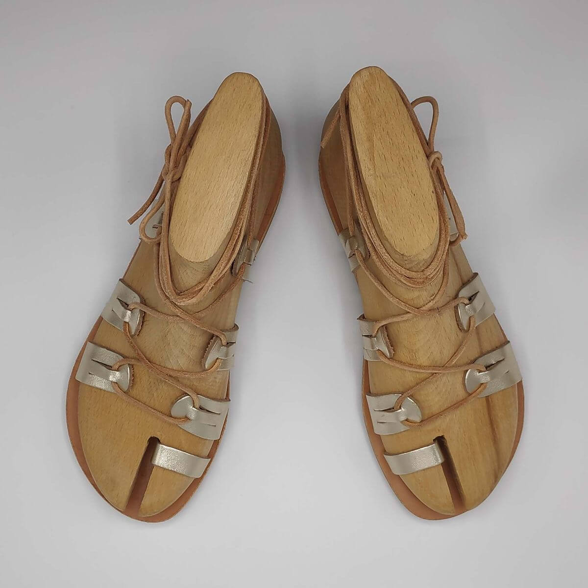 SPARTIAT Lace Up Sandals - Pagonis Greek Sandals